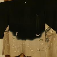 梅と鶯柄羽織 - 中村かをる創作帯屋