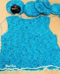 編みかけのプルオーバー♪   - ルーマニアン・マクラメに魅せられて