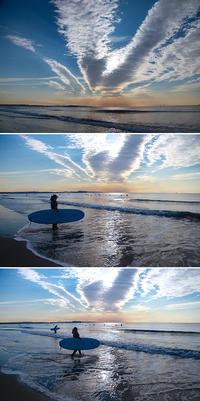 2017/02/05(SUN)  穏やかな海辺ですが........。 - SURF RESEARCH