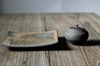赤鋼平角鉢・錆黒蓋物 - 器・UTSUWA&陶芸blog