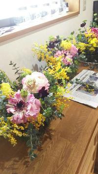 追加日程のお知らせ??冬を楽しむLesson出張編:春の花で春を予感しながら、春を待つ - 空の下が始まりでした♪街角花屋フロラリ*そしてmaisonへ♪2016年アトリエに