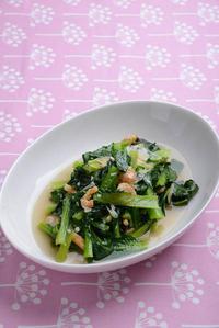 小松菜の炒め煮 - るみログ