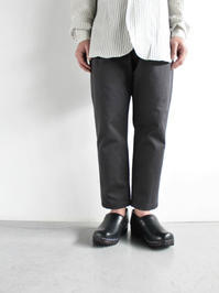 Honor gathering  cotton vintage chino cloth trousers - 『Bumpkins putting on airs』
