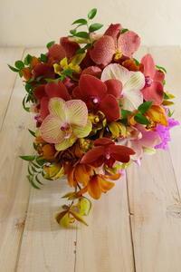 1月定期レッスン 蘭尽くしのブーケと飴細工なアレンジ 登録生徒さん募集 - 一会 ウエディングの花