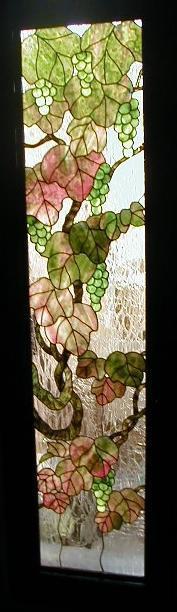 葡萄のパネル - ステンドグラスルーチェの日常