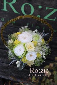 2017.2.9 ご両親贈呈用のプリザーブドフラワー/バスケットアレンジ - Ro:zic die  floristin