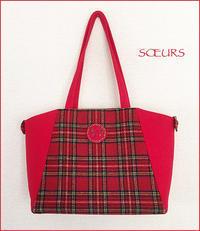 赤色チェックのウールバッグできました。 - la maison de SOEURS