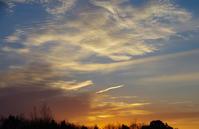 朝焼けと彩雲 - 雲空海