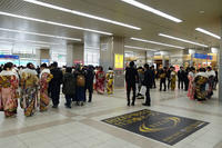 明石駅、成人の日 - YAJIS OFFICE BLOG