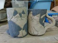 美猫と野猫 - そんな器じゃ…ない。~こねこね陶芸Blog