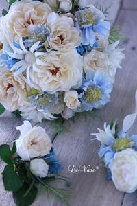 アーティフィシャルのウェディングブーケ - Le vase*  diary 横浜元町の花教室