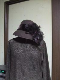 今日はお仕事は放棄で、リメイクmyモガ帽子♪ - 櫻乃園だより