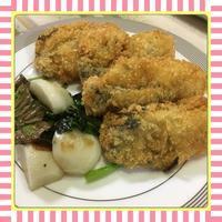 牡蠣フライ&カブの塩ガーリック炒め - kajuの■今日のお料理・簡単レシピ■