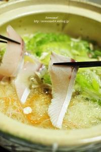 ぶりしゃぶと鶏つくね鍋 - Awesome!