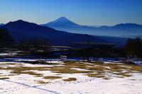29年2月の富士(4)八ヶ岳牧場の富士 - 富士への散歩道 ~撮影記~