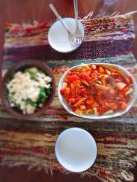 ランチ トマトパスタと豆腐サラダ - 恵茶房 meg tea labo