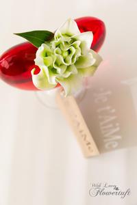昨日の赤い花器は♡ - 幸せのテーブル*flowertuft-flowers&tablesXphoto