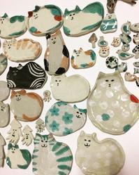 アトリエ木里「木里の猫展」へ陶芸ねこ皿新作を♡ - すぎはらゆり/ねこのしわざ