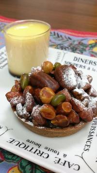 絶品、キャラメルナッツのタルト@co-ttie - お弁当と春の空
