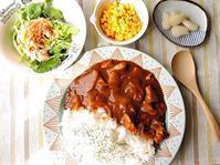 2/12(日)の昼 ちょい足しレトルトカレーランチ  - おひとりさまの食卓plus