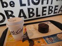 Mac Cafe で モーニングコーヒーブレイク - ラベンダー色のカフェ time
