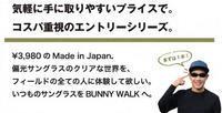 日本製偏光サングラスBUNNY WALK(バニーウォーク)エントリーモデルBW-301/BW-302発売開始! - 金栄堂公式ブログ TAKEO's Opt-WORLD