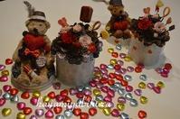 バレンタインのお花 - 好きな物に囲まれて* お花とお茶と楽しい時間 *