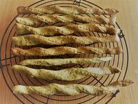 グリッシーニ 焼きました 焼けました - パンと焼き菓子の記録