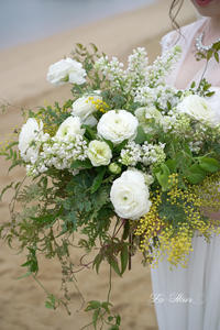 前撮り   ウエディングドレス用ブーケ 1 -  La Fleur