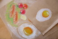 2/12の子供アート教室で - miwa-watercolor-garden