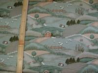 寂しい牧場の絵の布 - おさや糸店
