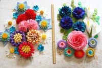 著作本「フェルトで作る花モチーフ92」で作った春のお花達~カーネーション、矢車菊、芍薬など~ - ビーズ・フェルト刺繍作家PieniSieniのブログ