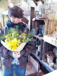 ミモザのスワッグ - [花灯-hanabi-] 栃木県宇都宮市の花屋です