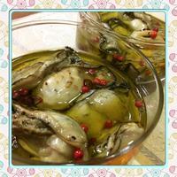 オイルに漬けて蒸すだけ、ワインのおつまみ、牡蠣のオイル漬(レシピ付) - kajuの■今日のお料理・簡単レシピ■