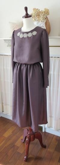 ワンピース『アリス・B』…シルク&タティングレースで - いつかリリアン・ギッシュのように…手作りお洋服のあとりえ便り