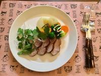 チャーシューと温野菜添えのパクチー盛り - カフェ気分なパン教室  ローズのマリ