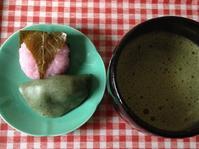 お抹茶と桜餅 - いととはり