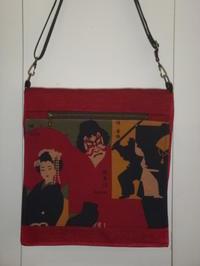 歌舞伎柄バッグ2点 - mackeyの手作り小物