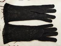 手編み黒レースの手袋  sold out! - スペイン・バルセロナ・アンティーク gyu's shop