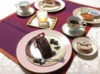 今夜もティータイム〜♡ - coco diary 山口県 お花と絵とテーブルコーディネートレッスン
