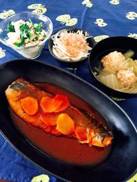 サバのトマト煮込み/豆腐団子スープ - Lammin ateria