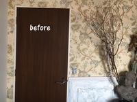 寝室ドアに壁紙を貼っちゃいました - フレンチシックな家作り。Le petit chateau