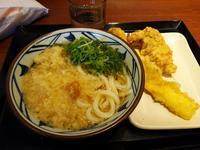 かけうどん+かしわ天+いか天(丸亀製麺千歳店) - eihoのブログ