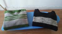 【前に作ったものたち】 主人のセーターたち - ボストン手作り大作戦