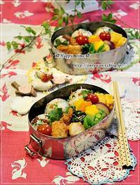 梅ちりめん菜花のおむすび弁当と鍋♪ - ☆Happy time☆