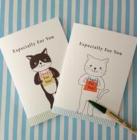 ねこちゃんのメッセージカード - mon livre diary
