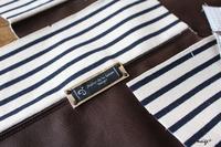 制作中の布小物再び。。。合皮とボーダーで大人かっこよく布合わせ♪ - neige+ 手作りのある暮らし