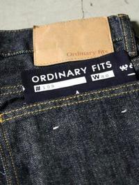 Ordinary fits ライダース 5ポケットデニム ONE WASH - 【Tapir Diary】神戸のセレクトショップ『タピア』のブログです