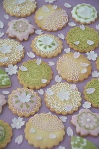 3月 アイシングクッキーレッスン「桜」お知らせ - Misako's Sweets Blog アイシングクッキー 教室 シュガークラフト教室 フランス菓子教室 お菓子 教室