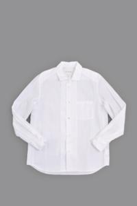 STILL BY HAND  Open Collar Shirt (White) - un.regard.moderne